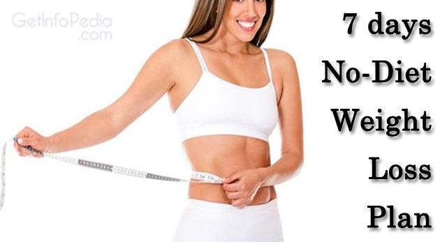 no diet weight loss plan